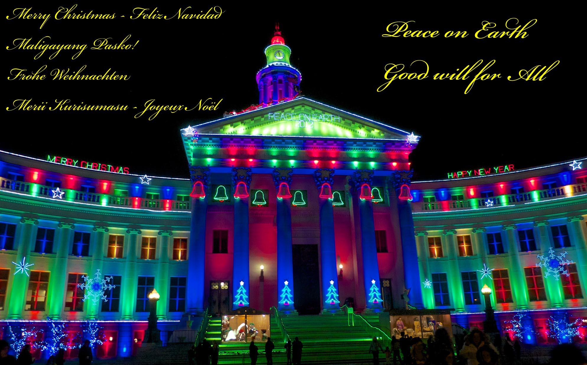 2012 Christmas Lights, Denver Civic Center Building.