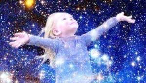 child and stars