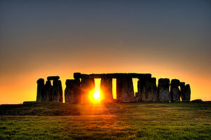 Sunrise at Stonehenge. PD-US photo from Wikipedia
