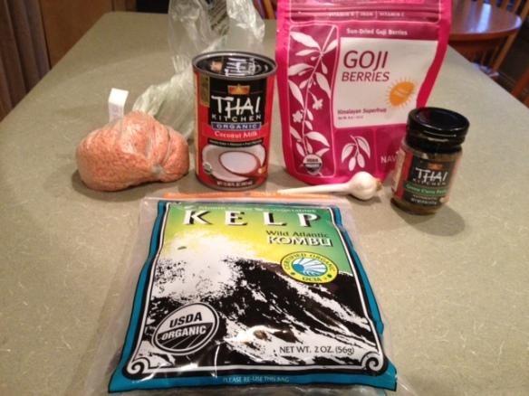 Goji soup ingredients