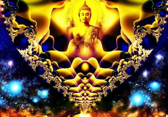 Buddha-fractal-blue-yellow